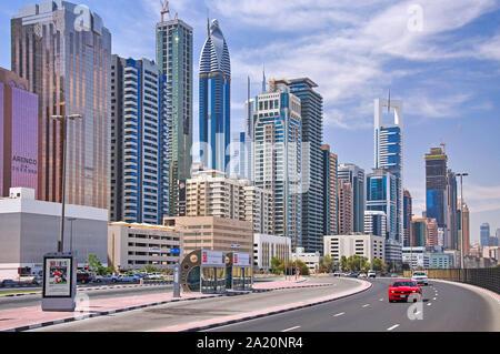 Stadt Wolkenkratzer, Downtown Dubai, Dubai, Vereinigte Arabische Emirate - Stockfoto