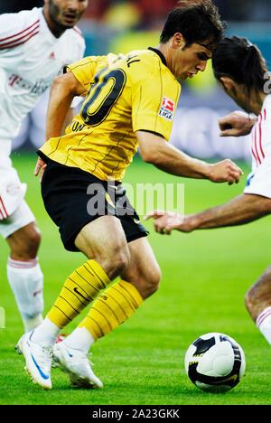 Signal Iduna Park Dortmund Deutschland, 23.7.2008, Fußball: T-Home Supercup, Borussia Dortmund (BVB, Gelb) vs FC Bayern München (FCB, weiß), 2:1 Hajnal (BVB) - Stockfoto