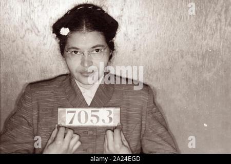 Montgomery, Alabama Polizei Foto (polizeifoto) von Rosa Parks, 21. Februar 1956. - Stockfoto