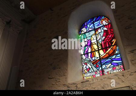 Saint-jean-Baptiste Kirche in l'Épine auf der Insel Noirmoutier (Frankreich) - Stockfoto