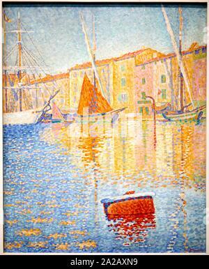 ''' La Bouée Rouge'', 1895, Paul Signac, Musée d'Orsay, Paris, Frankreich, Europa - Stockfoto
