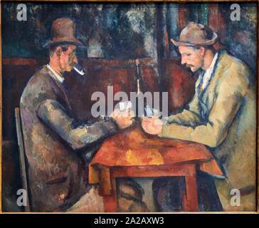 '''Les Joueurs de cartes'', 1890-1895, Paul Cézanne, 1839-1906, Musée d'Orsay, Paris, Frankreich, Europa - Stockfoto