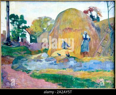 '''Les Meules jaunes'' dit aussi ''La Moisson blond'', 1889, Paul Gauguin, Musée d'Orsay, Paris, Frankreich, Europa - Stockfoto