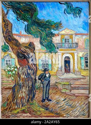 '''Hôpital Saint-Paul á Saint-Rémy-de-Provence'', 1889, Vincent Van Gogh, Musée d'Orsay, Paris, Frankreich, Europa - Stockfoto
