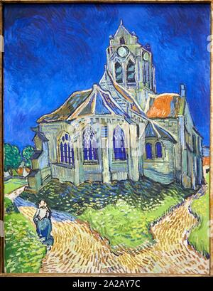 '''L'Église d'Anvers-Sur - Oise, Vue du Chorhaupt'', 1890, Vincent Van Gogh, Musée d'Orsay, Paris, Frankreich, Europa - Stockfoto