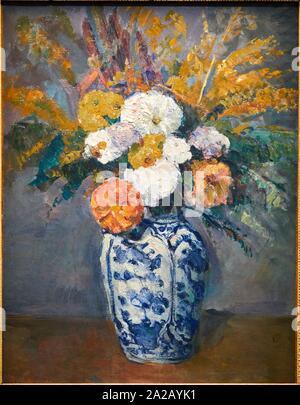 '''Alias dans un Grand vase de Delft'', 1873, Paul Cézanne, 1839-1906, Musée d'Orsay, Paris, Frankreich, Europa - Stockfoto