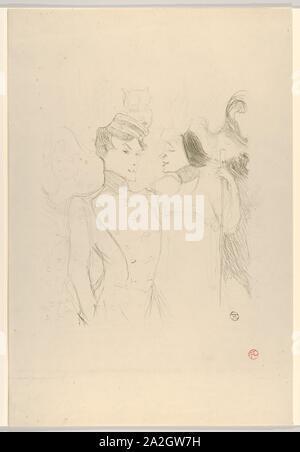 Marcelle Lender und Eva Lavallire in einer Revue am Varits, 1895.jpg - 2A2GW7H - Stockfoto
