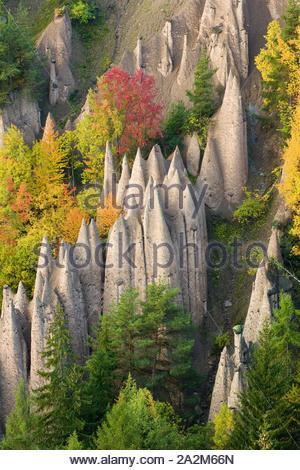 Erdpyramiden von Ritten, Südtirol - Stockfoto
