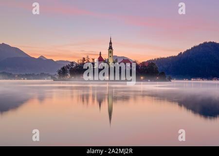 Bleder See, Obere Krain, Slowenien, Europa - Stockfoto