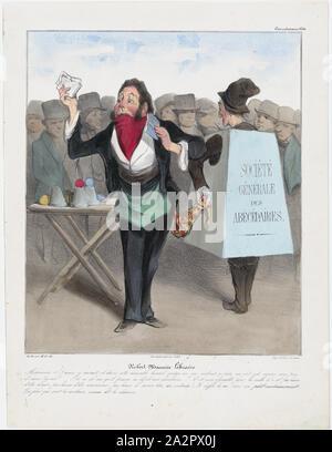 """Platte 14 Robert Macaire Buchhändler, von 'Caricaturana"""", in Les Robert Macaires, 1838.jpg - 2A2PX0J veröffentlicht. - Stockfoto"""