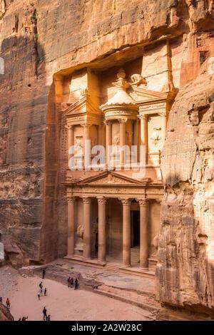 Al Khazneh - Die Schatzkammer Tempel, antike Stadt Petra, Jordanien - Stockfoto