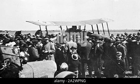 Negative - See, Victoria, ca. 1920, das erste Flugzeug auf See See - Stockfoto