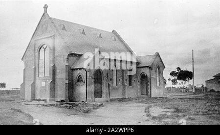 Negative - See, Victoria, circa 1920, die Kirche von England auf See See - Stockfoto