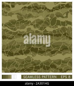 Nahtlose Textur Design. Vektor wiederkehrende Vorlage. Military Camouflage. Handgefertigte Muster verschleiern. - Stockfoto