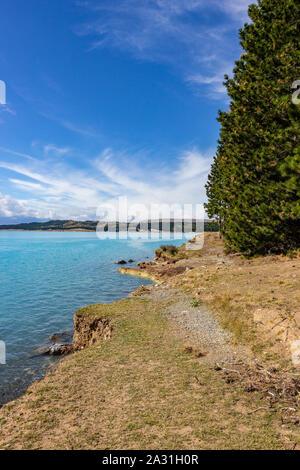 Blick auf den Lake Pukaki, Neuseeland - Stockfoto