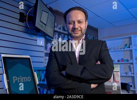 Tariq Muhammed CEO von Invatech Gesundheit, Bristol, Großbritannien - Stockfoto