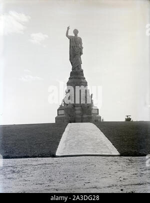 Antike 1902 Foto, das nationale Monument der Vorväter in Plymouth, Massachusetts. Quelle: ORIGINAL GLAS NEGATIVE - Stockfoto