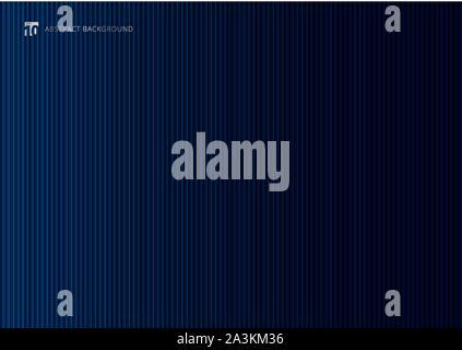 Abstrakte dunkel blau gestreiften vertikale Linien Hintergrund und Textur. Luxuriöser Stil Tapete. Vector Illustration - Stockfoto