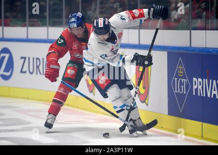 08.10.2019, xemx, Eishockey Champions Hockey League, Augsburger Panther - Bili Tygri Liberec emspor, v.l. Christoph Ullmann (Augsburger Panther #47) - Stockfoto