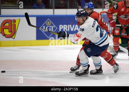 08.10.2019, xemx, Eishockey Champions Hockey League, Augsburger Panther - Bili Tygri Liberec emspor, v.l. Jaroslav Hafenrichter (Augsburger Panther # - Stockfoto