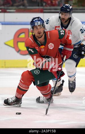 08.10.2019, xemx, Eishockey Champions Hockey League, Augsburger Panther - Bili Tygri Liberec emspor, v.l. Mitch Callahan (Augsburger Panther #15) D - Stockfoto