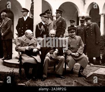 Die Konferenz von Jalta, auch bekannt als der Krim Konferenz- und code-named der Argonaut Konferenz (1945) der Nachkriegszeit Reorganisation der Keim zu diskutieren - Stockfoto