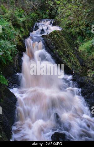 Wasserfälle auf der Kennick Brennen, Dumfries und Galloway, Schottland - Stockfoto