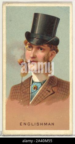 Engländer, von den Rauchern die World Series (N33) für Allen & Ginter Zigaretten.jpg - 2A 40 M55 - Stockfoto