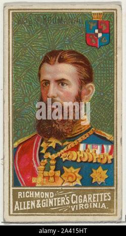 Der König von Rumänien, von der Welt Herrscher-Serie (N34) bei Allen&Ginter Zigaretten.jpg - 2A415HT - Stockfoto