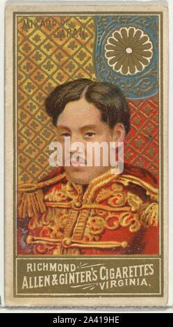 Mikado von Japan, von der Welt Herrscher-Serie (N34) bei Allen&Ginter Zigaretten.jpg - 2A 419 ER - Stockfoto