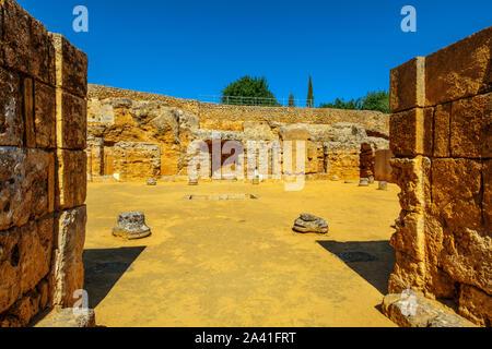 Grab von servilia. Römische Nekropole, archäologische Stätte von Carmona. Sevilla Provinz. Südlichen Andalusien, Spanien. Europa - Stockfoto