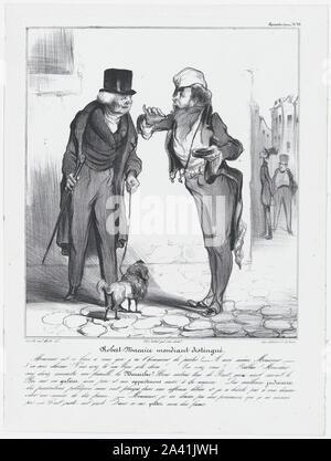 """Platte 30 Robert Macaire vor seinem Richter, von 'Caricaturana"""", in Les Robert Macaires.jpg Veröffentlicht - 2 A41 K0T - Stockfoto"""
