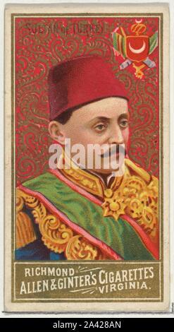 Sultan der Türkei, von der Welt Herrscher-Serie (N34) bei Allen&Ginter Zigaretten.jpg - 2 A428 ein - Stockfoto