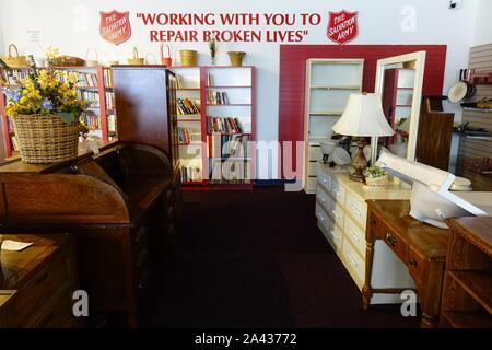 Heilsarmee Sparsamkeitspeicher, Holly Hill, Florida - Stockfoto