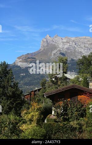 Aiguilles de Warens. Alpes Françaises. Haute-Savoie. Frankreich. - Stockfoto