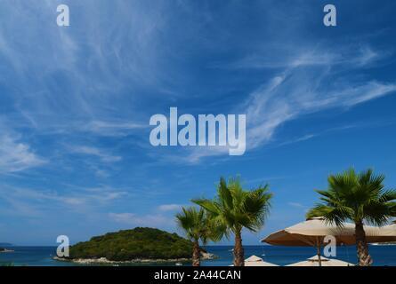 Ksamil Albanien - Stockfoto