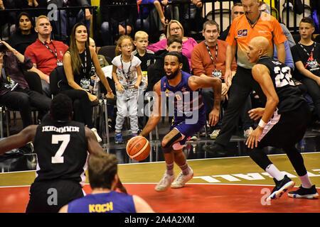 London, Großbritannien. 13 Okt, 2019. British Basketball All-Stars Meisterschaft an Kupfer, Arena, London am Sonntag, den 13. Oktober. Bild Capital/Alamy leben Nachrichten - Stockfoto
