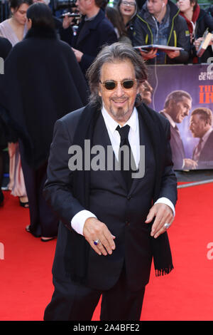 Al Pacino, der Ire - Closing Night Gala, BFI London Film Festival, Leicester Square, London, UK, 13. Oktober 2019, Foto von Richard Goldschmidt - Stockfoto