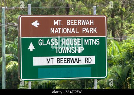 Ein Schild an der Sunshine Coast in Queensland, Australien - Stockfoto