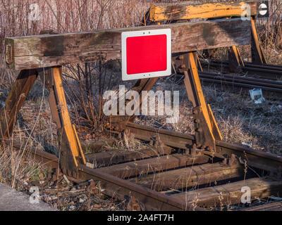 Eisenbahn Puffer Zug - Stockfoto