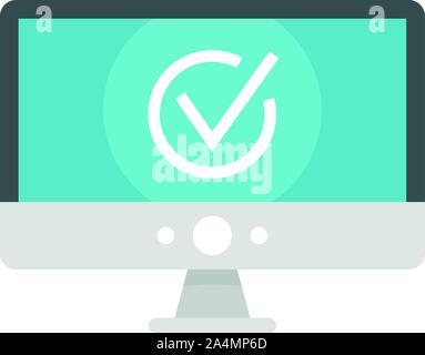 Computer Monitor online Abstimmung Symbol. Flache Abbildung: computer monitor online Abstimmung vektor Symbol für Web Design - Stockfoto