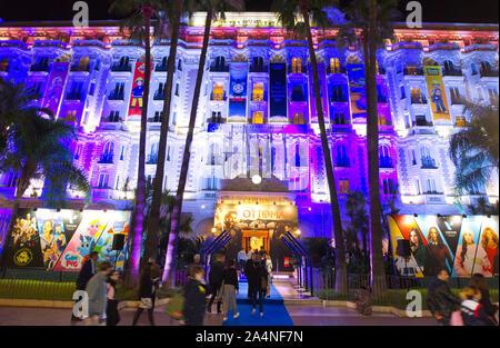 Cannes, Frankreich - Oktober 15, 2019: MIPCOM - der Welt Entertainment Content Markt mit der allgemeinen Atmosphäre im Hotel Carlton Intercontinental, ein Reed MIDEM Event, Tv, Messe, MIPTV, - Stockfoto