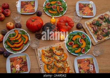 Halloween Tisch Dekoration - Stockfoto