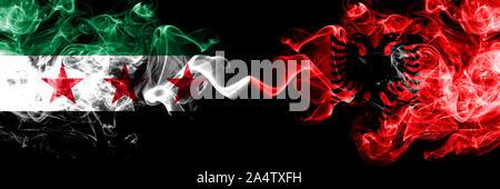 Albanische Flagge Flagge Mit Vereinigten Arabischen Emirate Auf