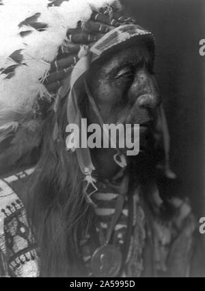 Edward S. Curtis Native American Indians - Jack Red Cloud - ogalala Ca. 1907 - Stockfoto