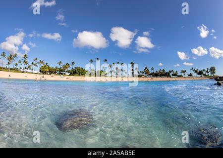 Ko Olina Lagune 4 Strand auf der Westseite von Oahu, Hawaii. - Stockfoto