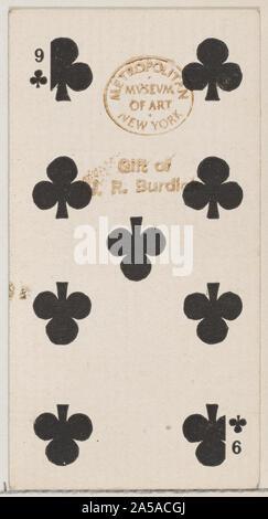 Neun Vereine (Schwarz), von der Karten-Serie (N84) für Duke Marke Zigaretten.jpg - 2A 5 ACGJ - Stockfoto