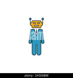 Robo-Advisors Icon Set. Vier Elemente in verschiedenen Stilrichtungen von fintech icons Collection. Kreative robo-Berater Icons, Outline, farbige und flach - Stockfoto