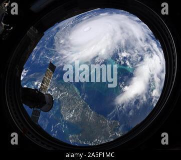 Hurricane Dorian von der ISS, September 2, 2019 gesehen - Stockfoto