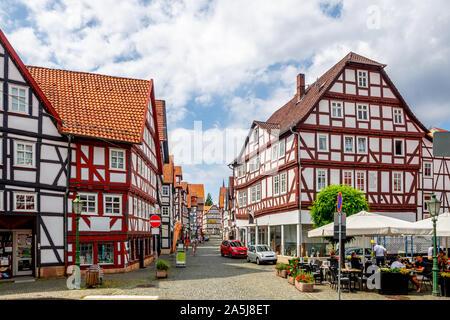 Historische Stadt Melsungen, Hessen, Deutschland - Stockfoto